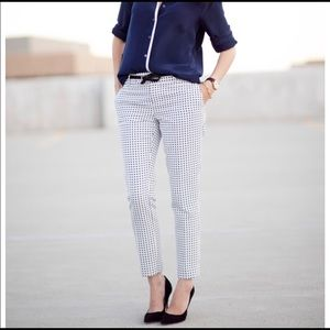 Banana Republic polka dot slim ankle pants